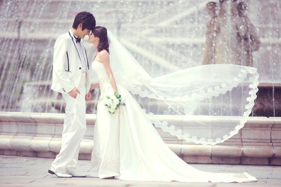 韩式婚纱照片欣赏-世界公园北京婚纱照-北京婚纱摄影